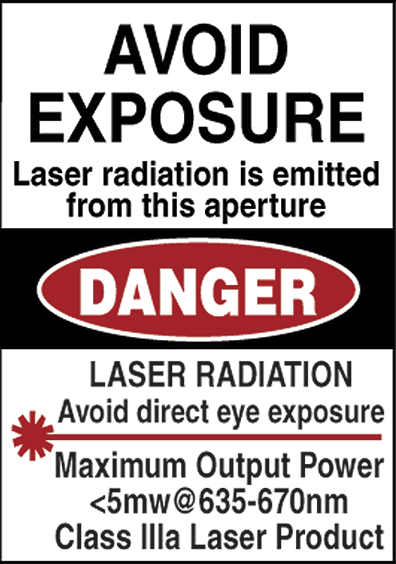 Avoid Exposure Danger Warning