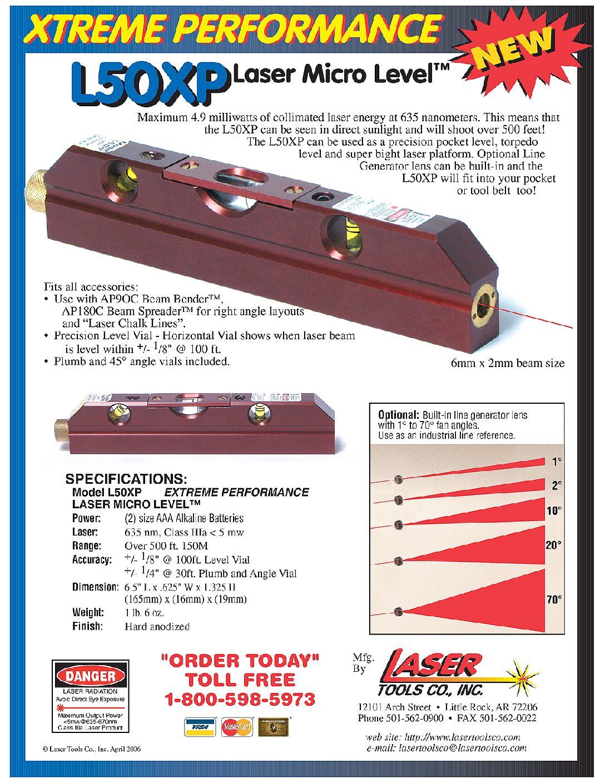 L50XP LASER MICRO LEVEL Professional contractors and avid